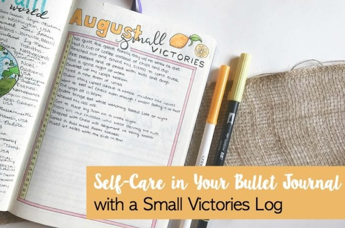 Self Care in Your Bullet Journal with a Small Victories Log
