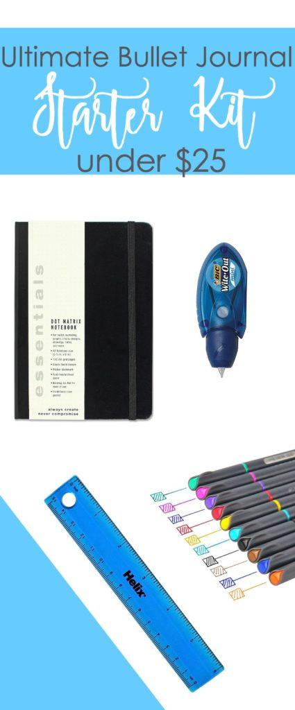 The Ultimate Bullet Journal Starter Kit for under $25