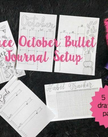 Free October Bullet Journal Setup Printable