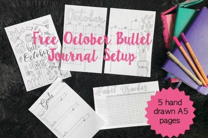 October Bullet Journal Setup: Free Printable