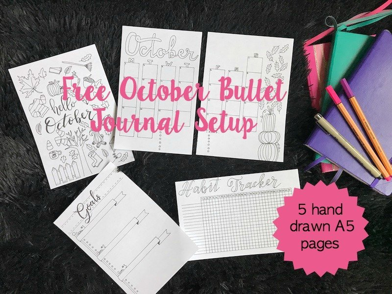 Free October Bullet Journal Setup Printable