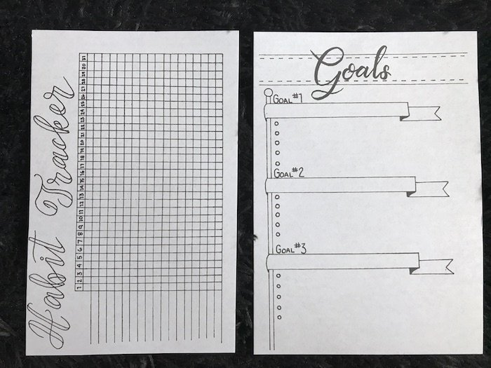 Free Printable Bullet Journal Inserts