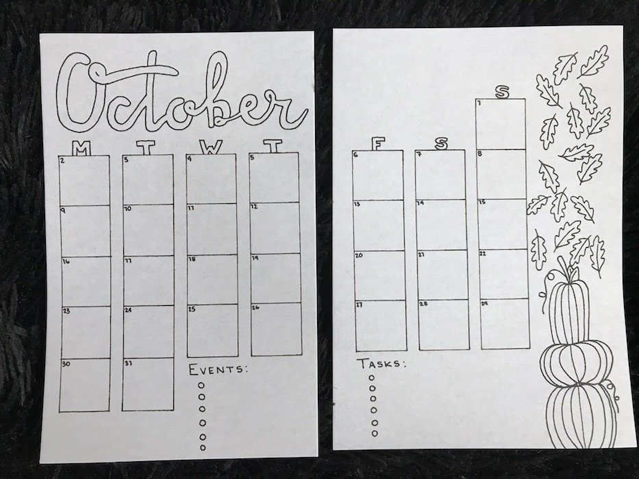 Download this October Bullet Journal Setup Free
