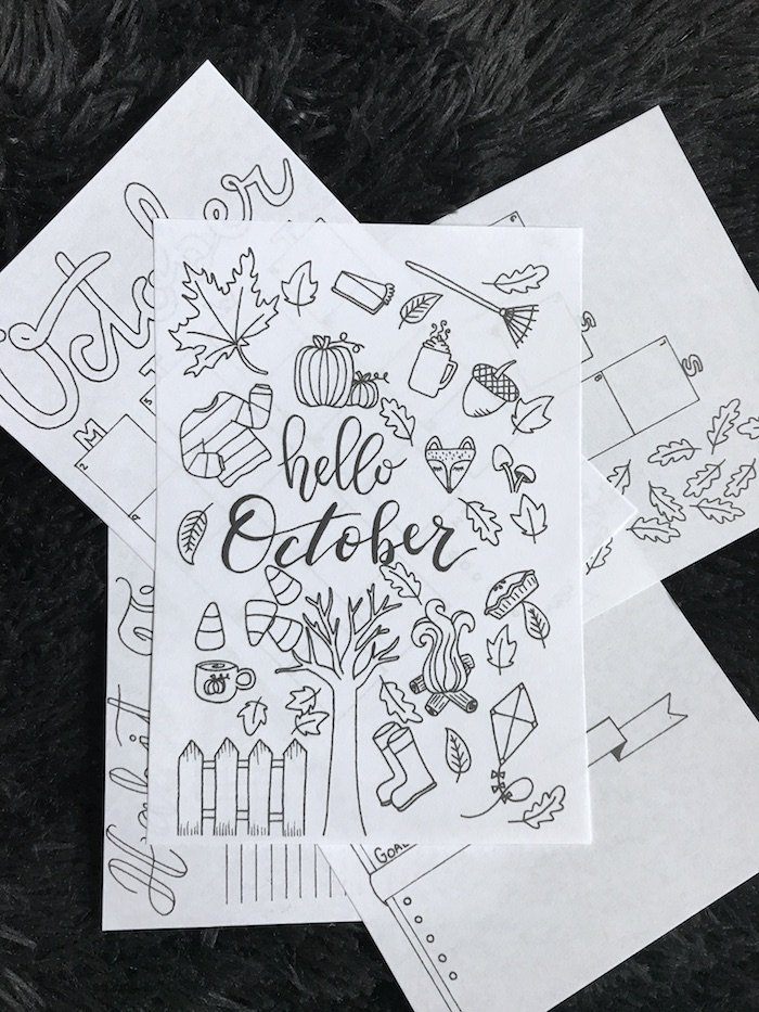 October Bullet Journal Setup: Free Printable - The Petite ...