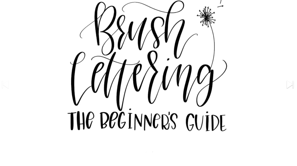 Online Courses To Learn Brush Lettering
