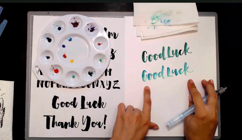 Learn how to use a waterbrush pen for lettering