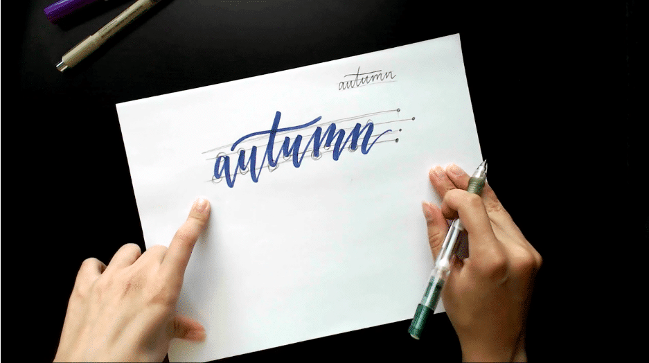 How to Add Bounce to Your Brush Lettering