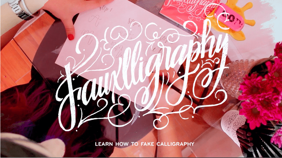 Introduction to Faux Calligraphy