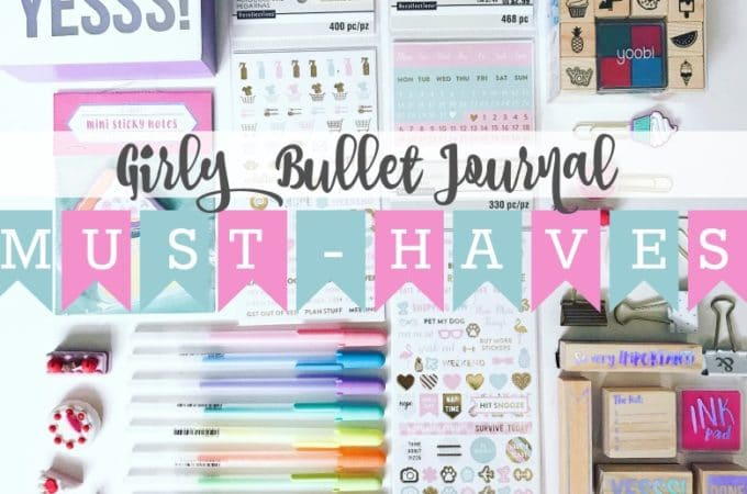 Girly Bullet Journal Must-Haves and Gift Ideas