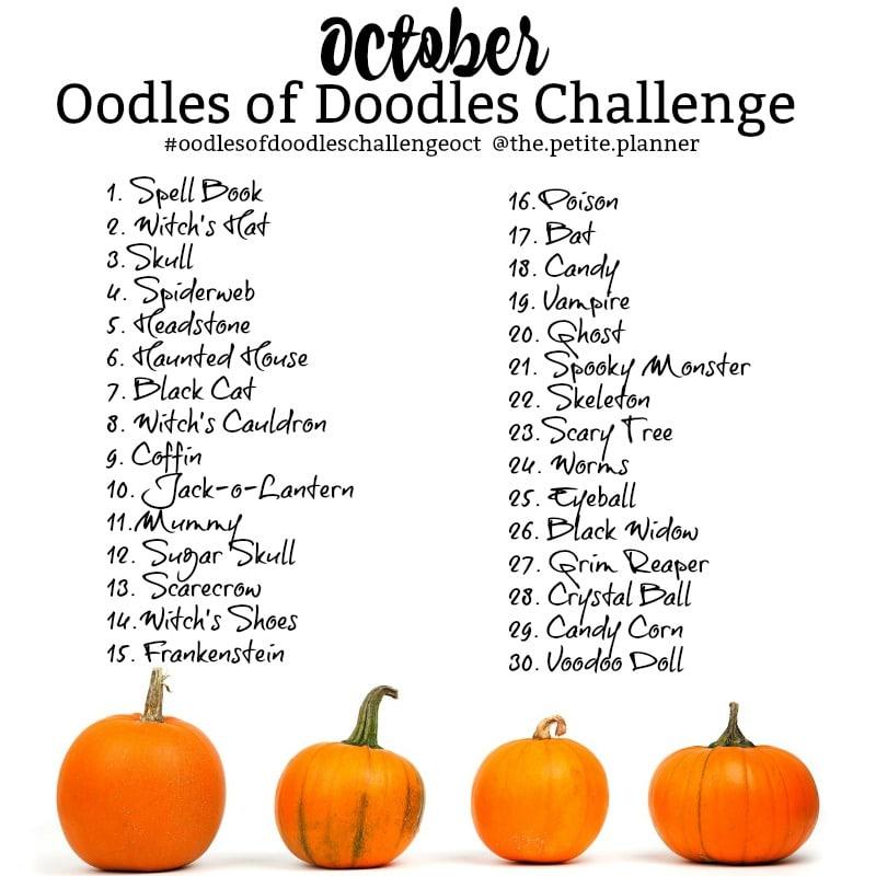 October Halloween Doodle Challenge