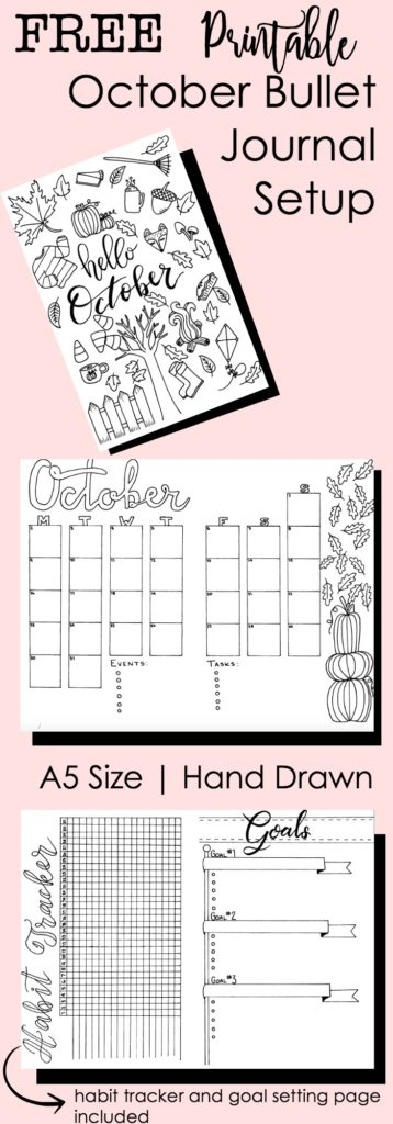 Free Printable Bullet Journal Inserts: October 2017