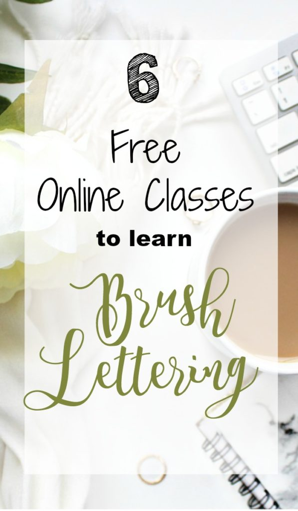 Enroll in these Free Online Classes to Perfect your brush lettering skills and learn some new tricks and techniques along the way