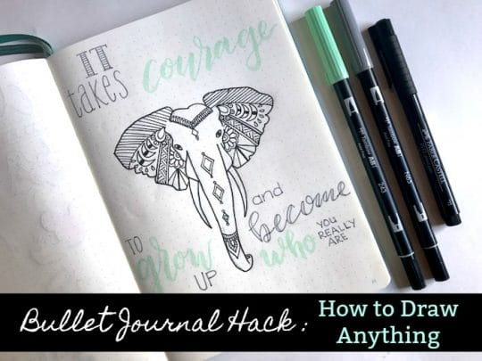 How to Draw Anything: Bullet Journal Hack