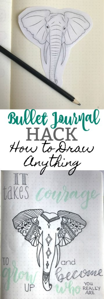 The one simple bullet journal hack that will allows you to add any design element to your bullet journal with ease