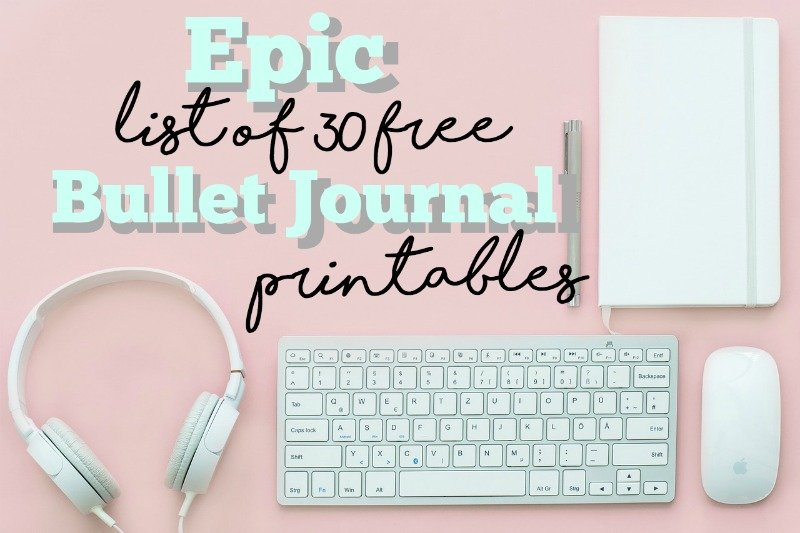 photo regarding Printable Bullet Journal Paper named Epic Record of 30 No cost Bullet Magazine Printables - The Pee