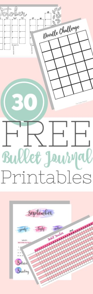 graphic about Printable Journal Templates named Epic Checklist of 30 Totally free Bullet Magazine Printables - The Pee