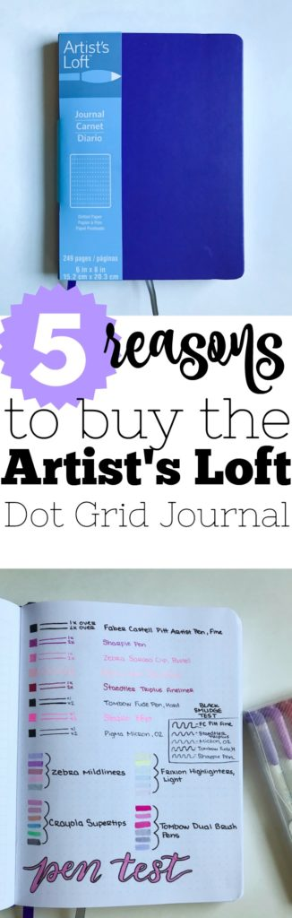 The Artist's Loft Dot Grid Journal from Michael's is here for only $5! Here are four more reasons to buy it