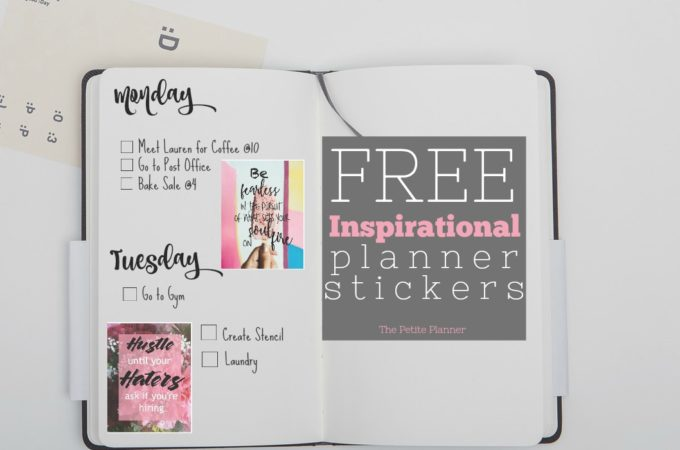 Free Printable Inspirational Stickers for Your Planner