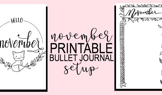 Printable November Bullet Journal Setup