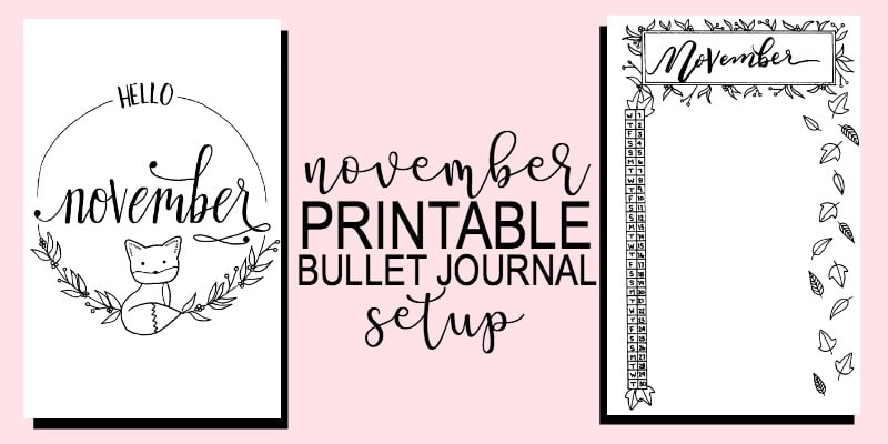 Printable November Bullet Journal Setup
