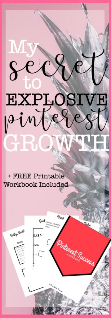 Want to know how I've exploded my Pinterest profile and got over 100,000 pageviews a month from Pinterest? Check out my tips for success here, and grab my FREE Workbook.