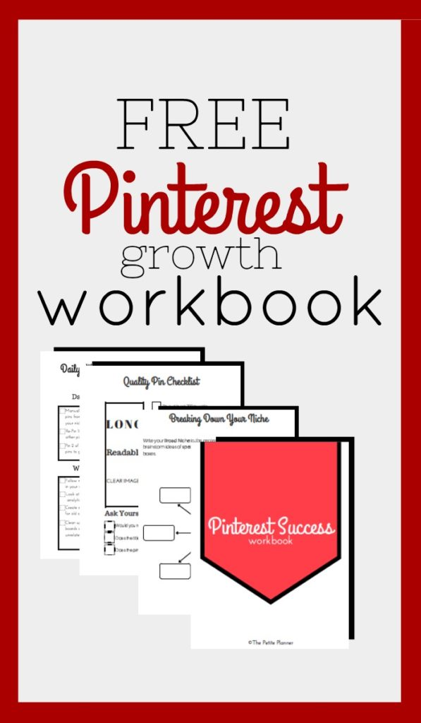 Grab my Pinterest Growth workbook now. I won't try to sell you Boardbooster or Tailwind. The methods used are all organic.