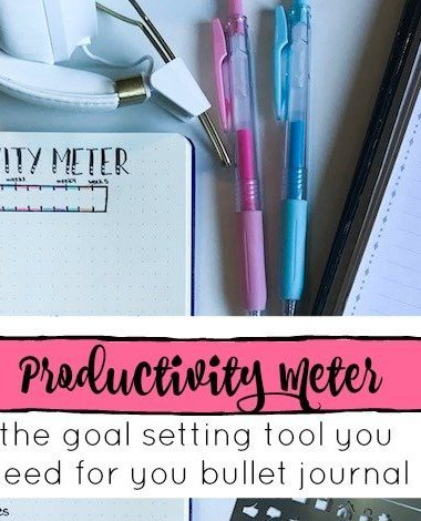 The Productivity Meter is a new tool for goal setting, and it's perfect to add to your bullet journal