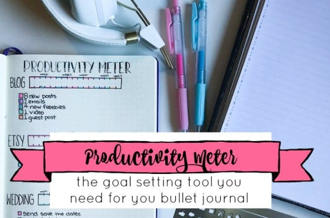The Productivity Meter for Your Bullet Journal + Free Printable