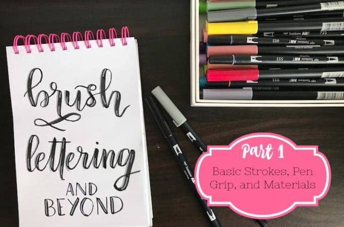 Brush Lettering and Beyond: Basic Strokes and Materials