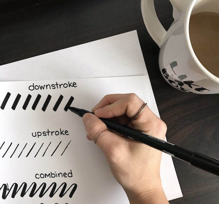Gripping your brush pen to create beautiful brush lettering