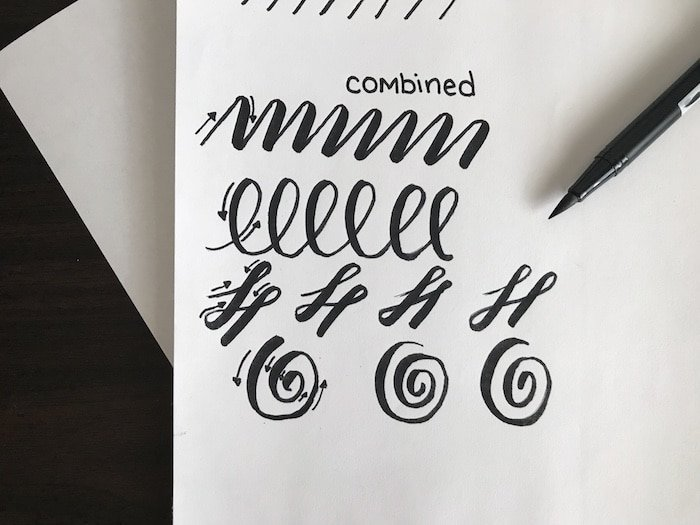 Brush lettering drills