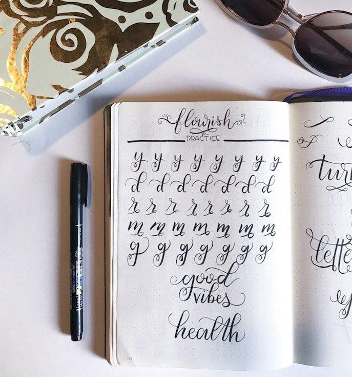 Flourish practice letters