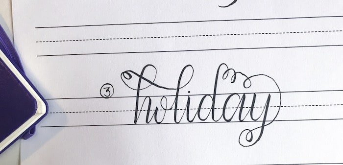 Practice Calligraphy Flourish