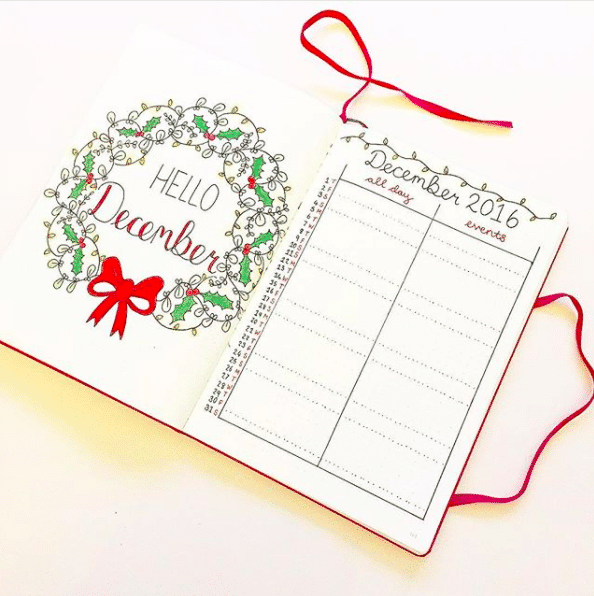 Christmas Planning in your bullet journal