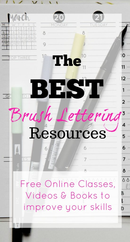 Check out these brush lettering resources to greatly improve your skills. You can start today with free classes and videos.