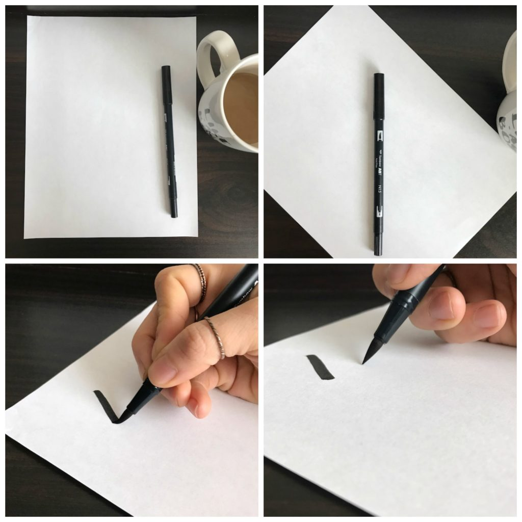 How to orient your paper when doing brush lettering