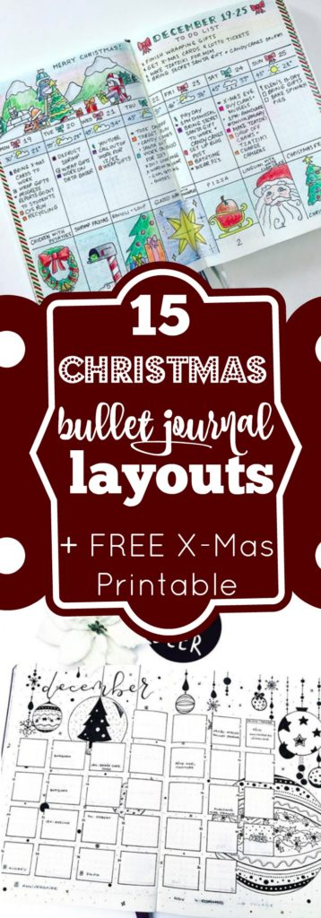 These Christmas Bullet Journal Layouts are pure bliss! Get some planning inspiration for December and grab the free printable headers at the end of this post