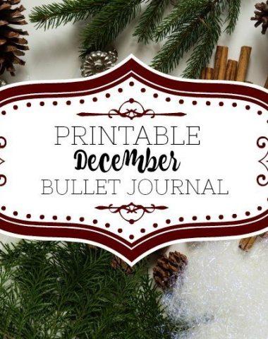 Printable December Bullet Journal Layout