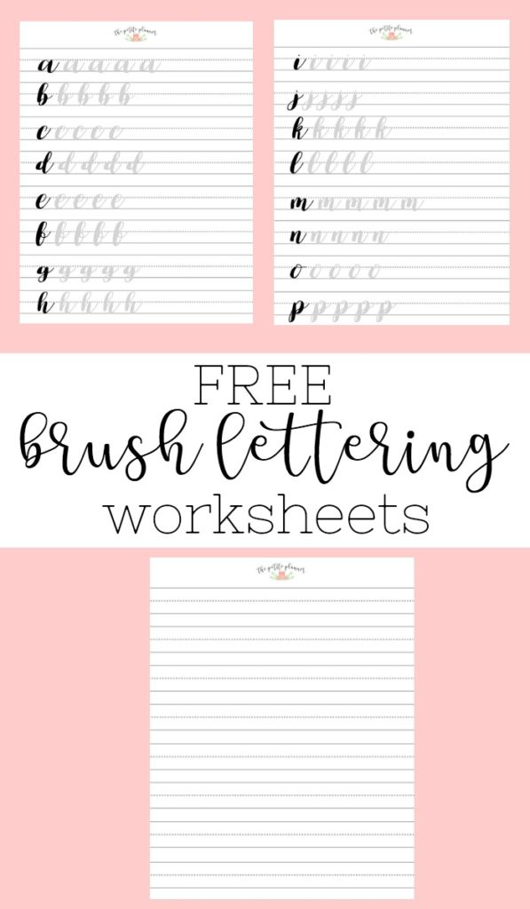 Free Brush Lettering Worksheets