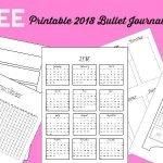 2018 Bullet Journal Setup Free Printable