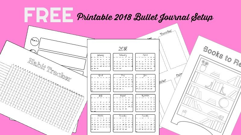2018 Bullet Journal Setup Free Printable - The Petite Planner