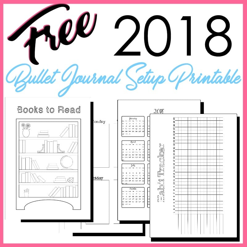 2018 Bullet Journal Setup Free Printable The Petite Planner