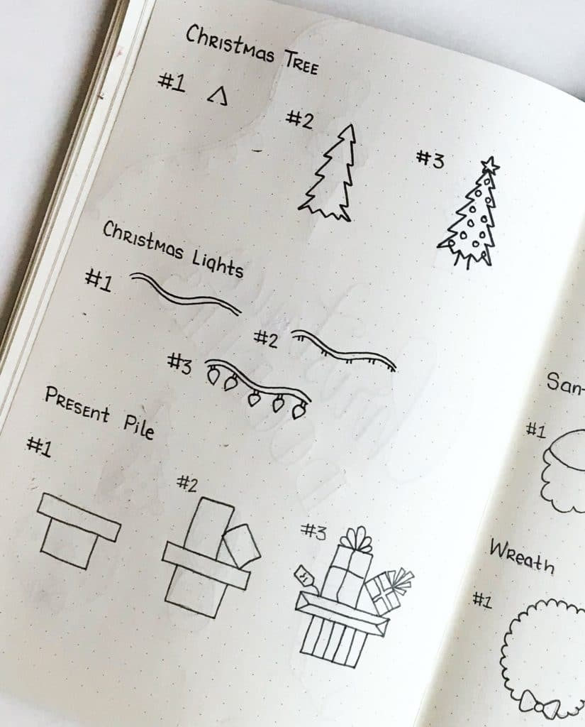 Step-by-Step Christmas Doodles