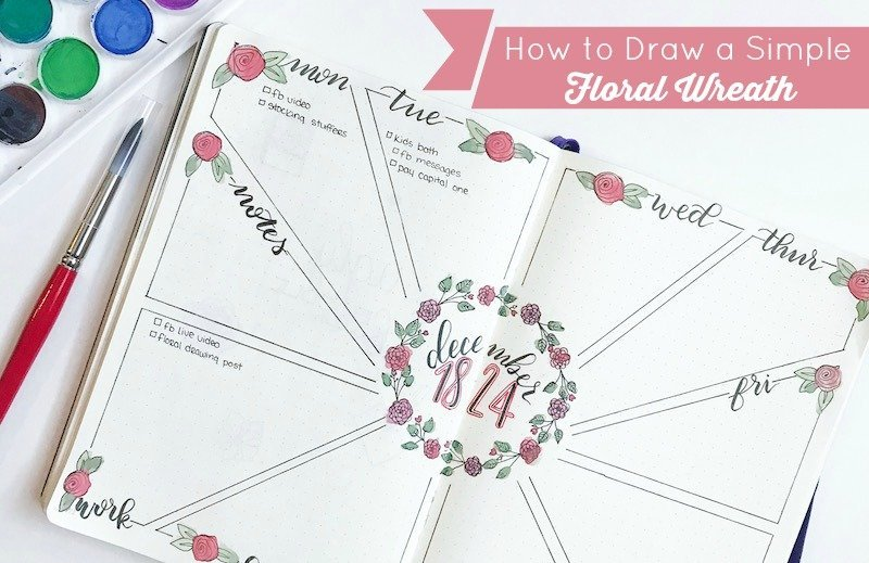 How to Drawn a Floral Wreath