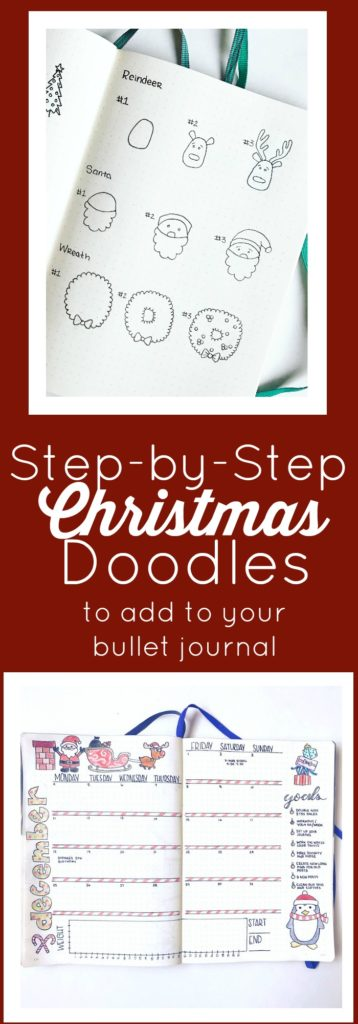 Add some festive doodles to your bullet journal with this step-by-step Christmas doodles guide and free printable