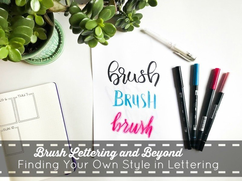 Finding Your Own Style in Brush Lettering