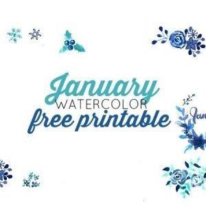January Watercolor Freebie