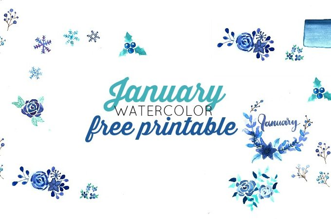 January Watercolor Freebie