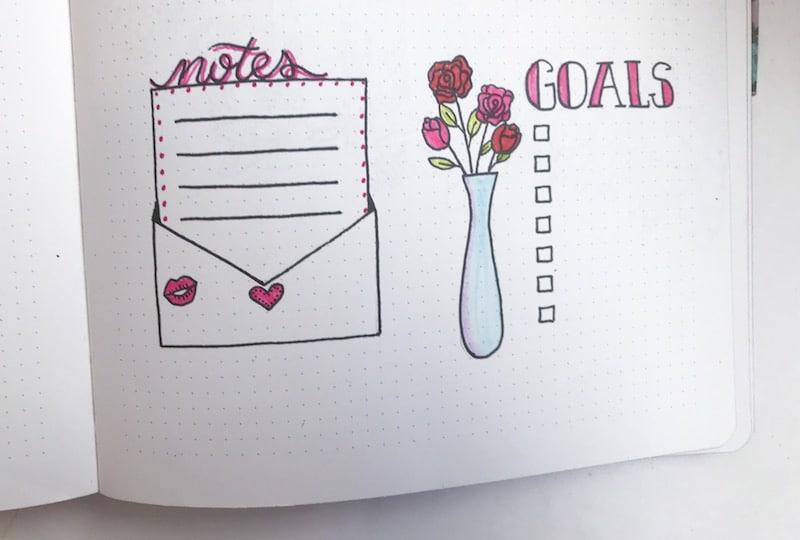 February Bullet Journal Inspiration