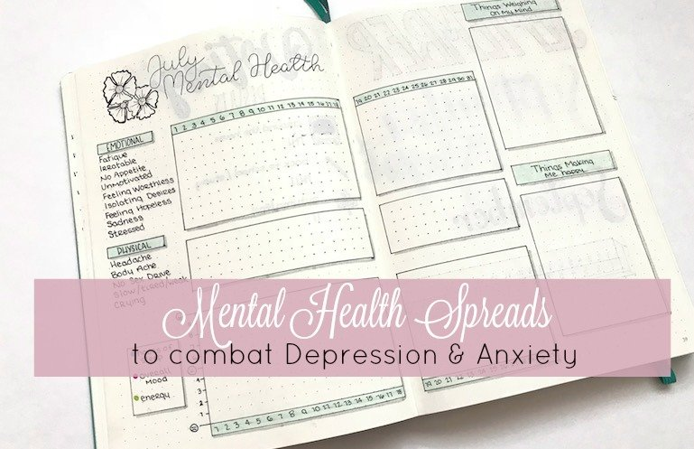Mental Health Bullet Journal Spreads